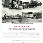 Fri, 2016-09-30 18:35 - The enquiry form section of the 1939 associated British railways household removals leaflet. The photos show the stages of handling the road-rail containers with all of the 'big four' getting a look in.