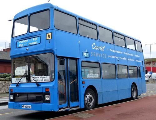K580 RRH 'Voel Coaches' of Dyserth Leyland Olympian / Northern Counties. Dennis Basford's 'railsroadsrunways.blogspot.co.uk'