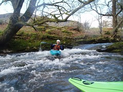 Anna paddling just outside the Rhongyr Isaf Centre Image