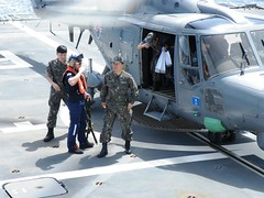 ROK Navy Rear Admiral Nam arrives on HNLMS Tromp