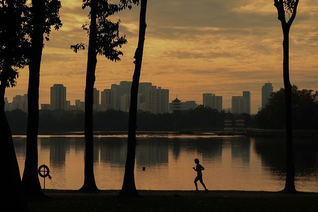 Jogger by Jurong Lake
