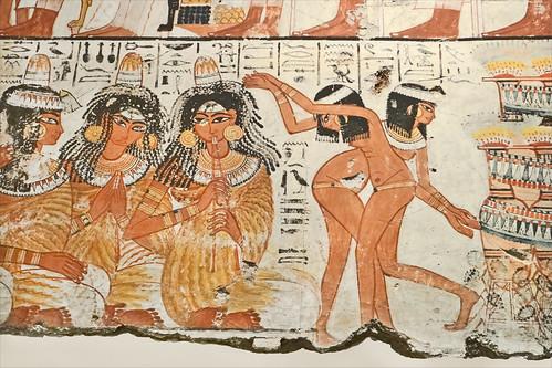 Musiciennes et danseuses dans l'Egypte pharaonique (British Museum)