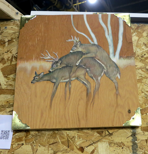 AAN2013 Deer Johns by Bonnie Gloris Oil on Wood