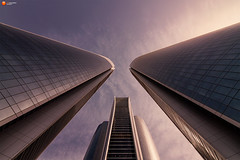 Etihad Towers at Sunset - Abu Dhabi - VAE