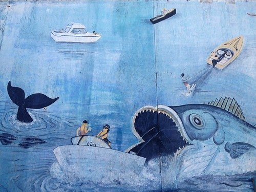 street blue sea fish detail art water beauty sport shop wall river boat fishing fisherman artwork mural view bass painted tail scenic delta faded boating catch recreation fading creature powerboat skier tale bait waterway haps riovista onethatgotaway fishstory