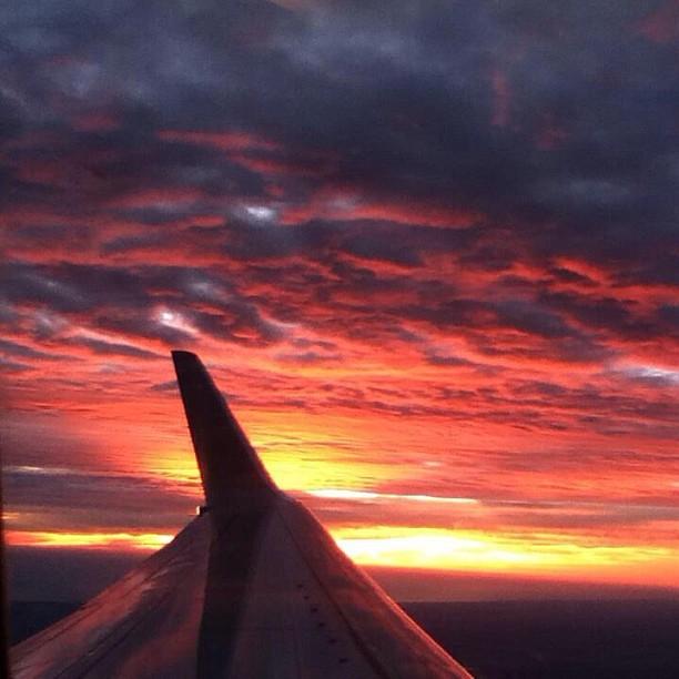 #sunset #nofilter #plane