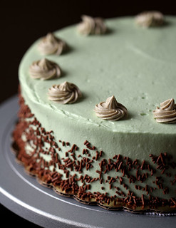 20130505 02 green tea N chocolate cheesecake with yuyu's frosting