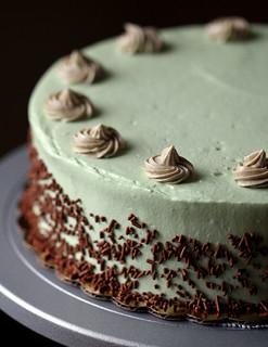 20130505 02 green tea N chocolate cheesecake with yuyu's frosting