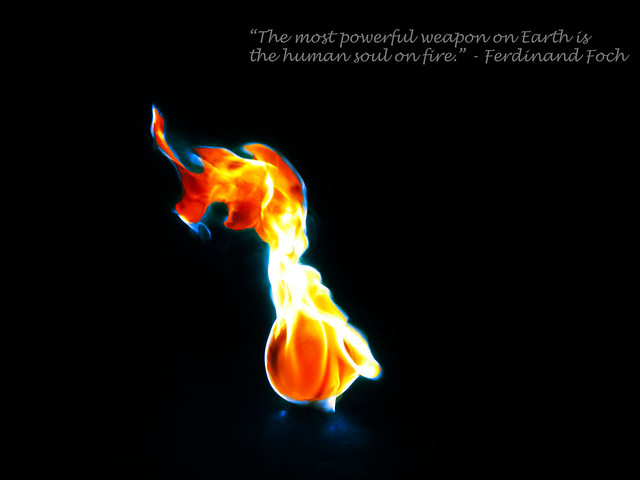 The Human Soul on Fire...