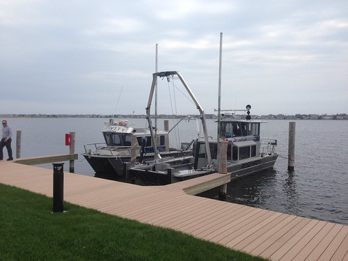 Two of our boats at the same dock on multiple projects in Jersey by gravityenv