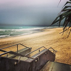 Flat and grey looking to Coolangatta but still beautiful #goldcoast