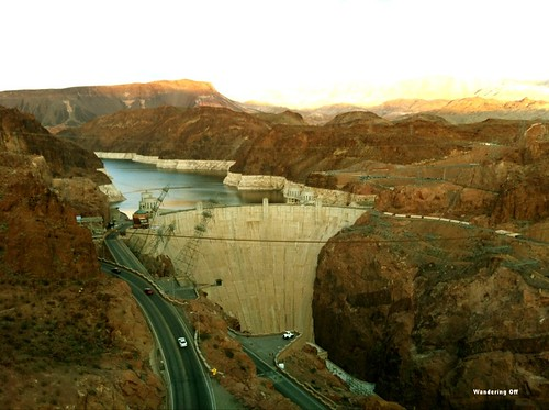 Hoover Dam as seen from the Mike O'Callaghan - Pat Tillman Memorial Bridge