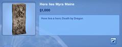 Here Lies Myra Maines
