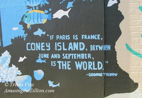 Mural Detail at New York Aquarium