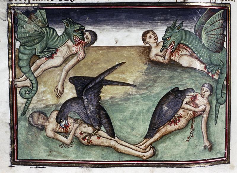 Demons From The Livre de la vigne nostre Seigneur, 1450 - 70 (21)
