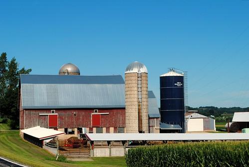 Farm west of Hillpoint Wisconsin