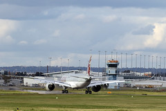 QATAR A7-ALK landing in Adelaide for the first time