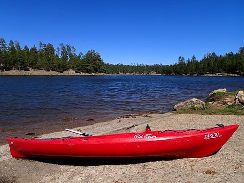 Kayaking at Woods Canyon Lake