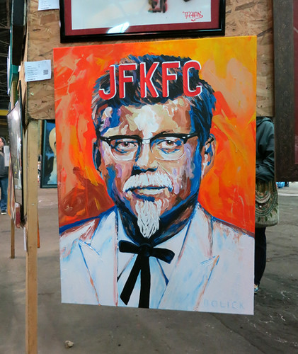 AAN2013 JFKFC by Daniel Bolick - acrylic on canvas