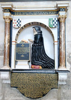 "Salisbury Cathedral - The Final Resting Place of the ""truely vertuous and religious"" Elihonor Sadler...."