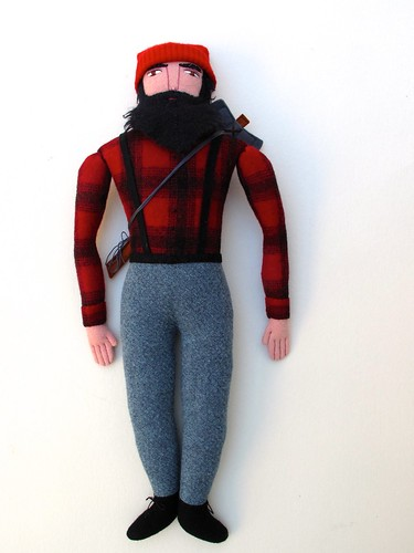 Mimi K posted a photo:	A very traditional lumberjack indeed!