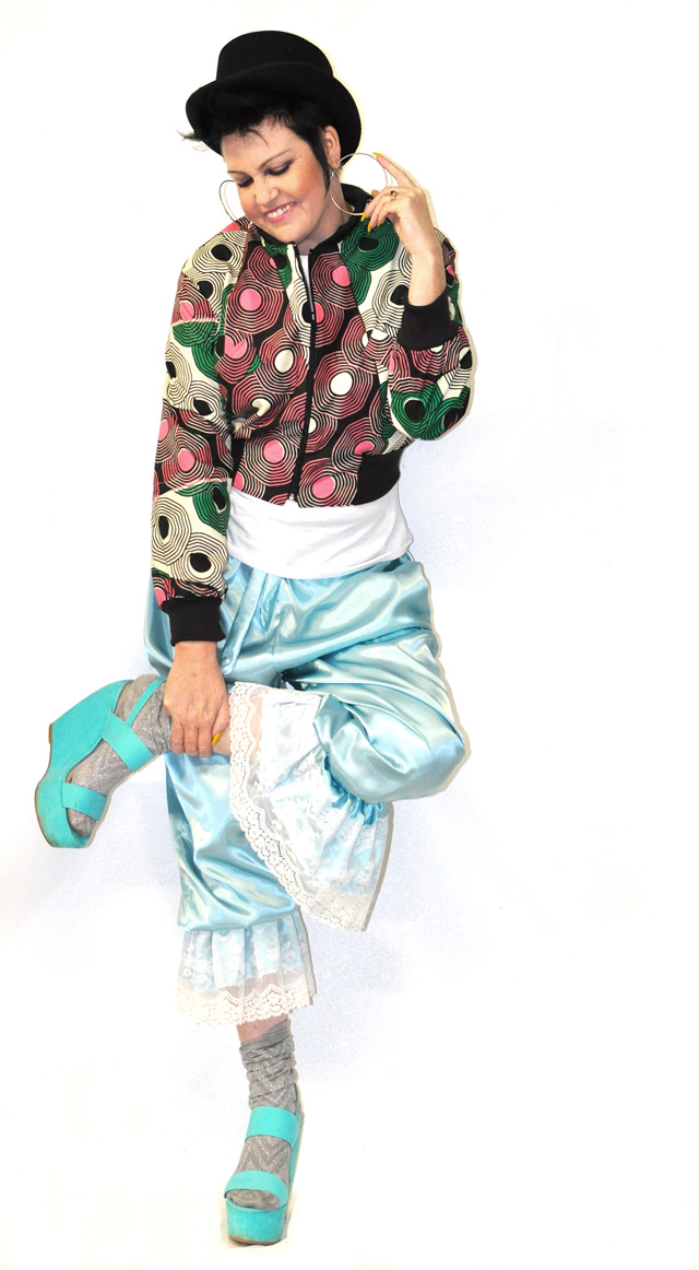 Kazzthespazz.com | Bomber Jacket and Satin & Lace Pantaloons