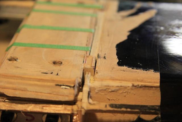 Closer look at the tab shims