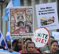 Immigration Rights marchers on Mayday