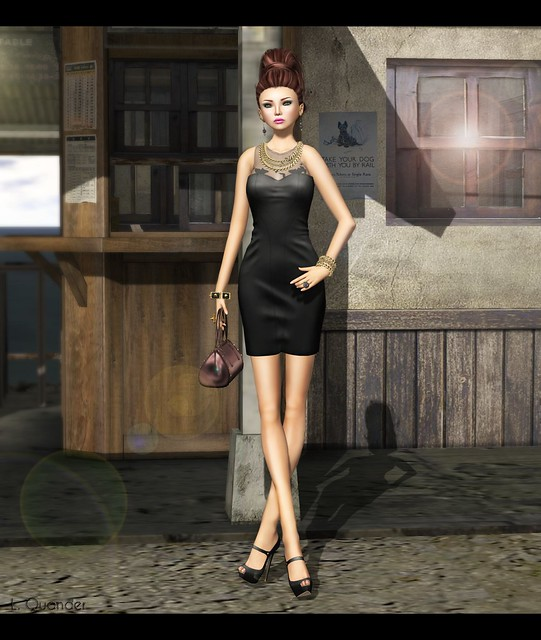 ISON - flight bodycon dress-black for April C88