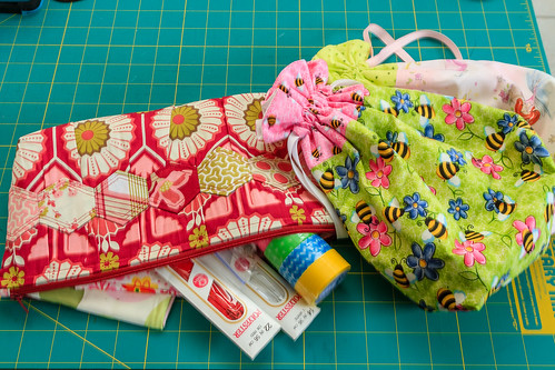 Pouch received from owenjulesmommy. Plus tons of goodies. So thoughtful to send my girl pouches too! Spoiled all around!