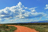Outback track with clouds