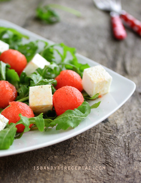 Arugula_watermelon_feta salad