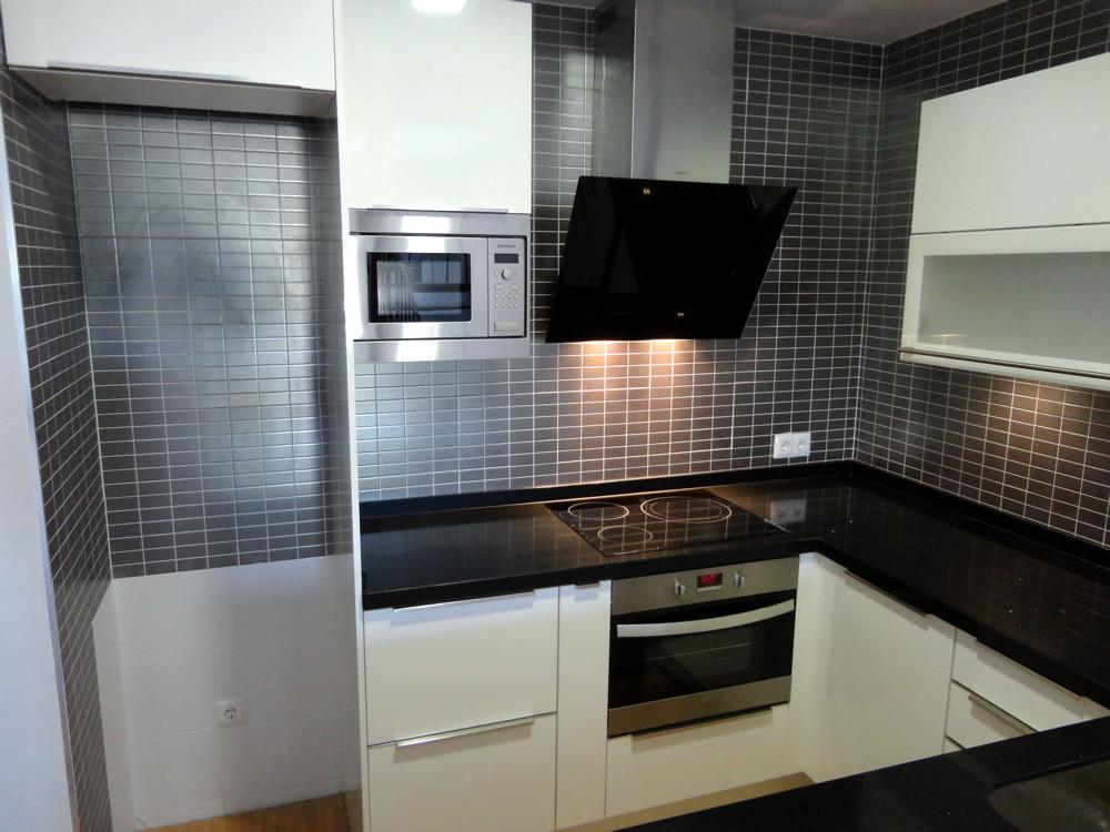 Modelo rio alto brillo Muebles de cocina para microondas