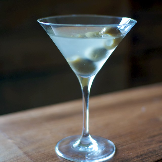 smoky bleu martini