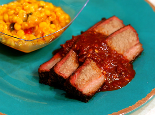 brisket and hot sauce