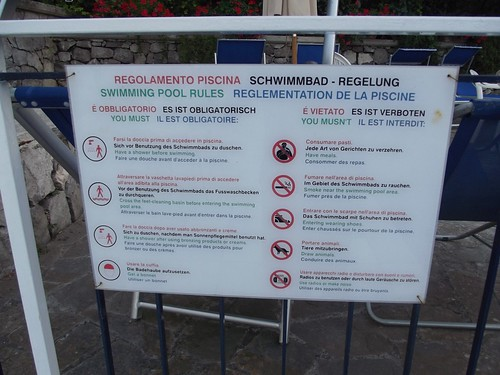 Hotel Metropole Sorrento Sign Swimming Pool Rules