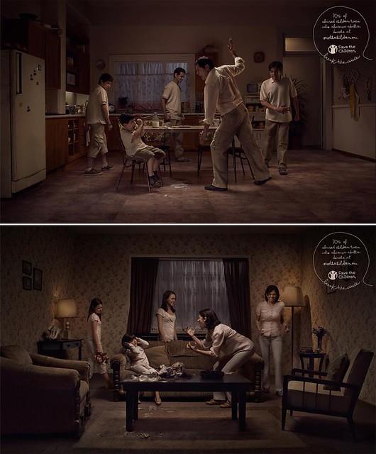 反家暴廣告,之前有得獎,小孩會複製父母的行為,所以家暴才容易惡性循環.