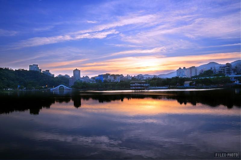 20120710大湖公園夕陽餘暉