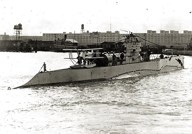 Martin MS-1 on the deck of S-1 sub