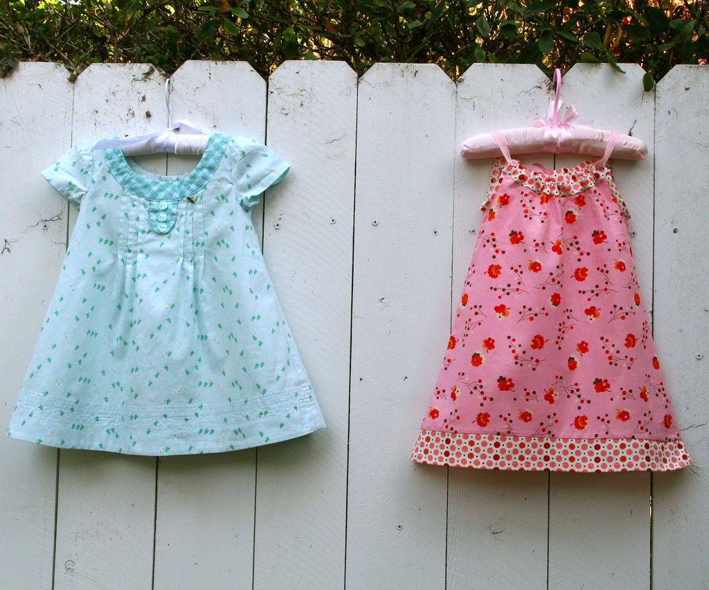 Oliver + S Family Reunion Dress & Pillowcase Dress in Denyse Schmidt's Flea Market Fancy