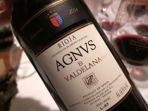 2004 Agnus de Valdelena Reserva from Rioja