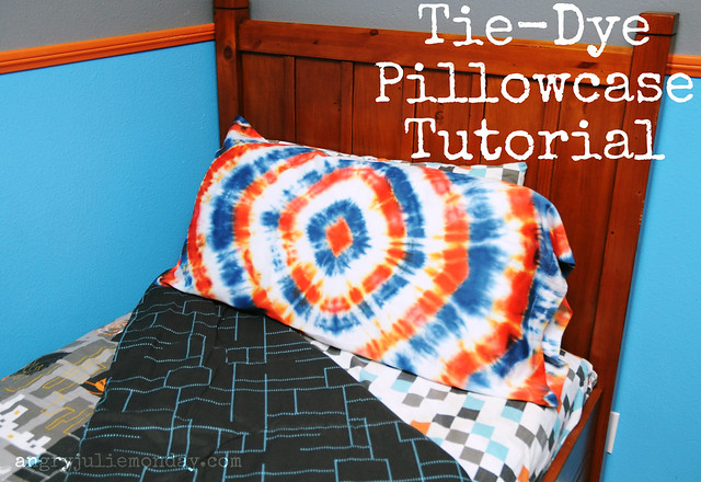 Tie-Dye Pillowcase Tutorial