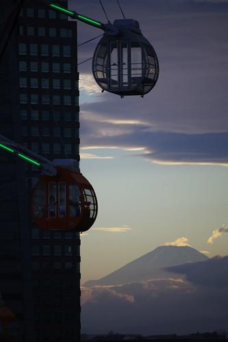 富士山と観覧車ワンモア