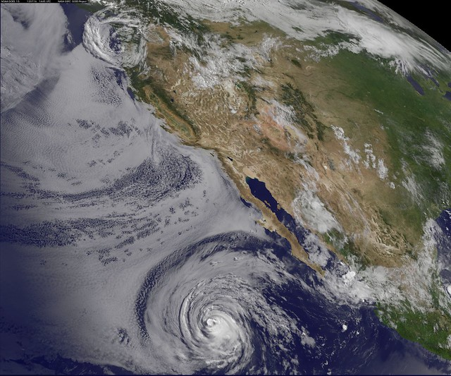Satellite Sees Hurricane Fabio Still Chasing Emilia's Remnants in Pacific Ocean July 16,2012.