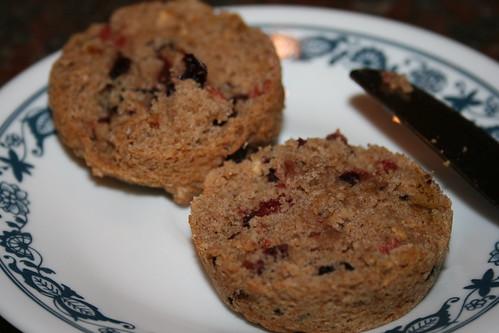 cherry okara muffins