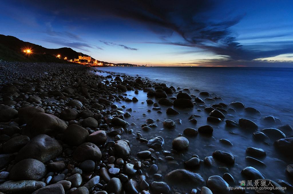 礫石海灘風
