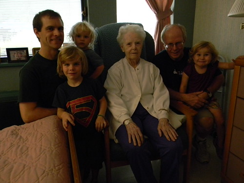 visit with Great Grandmom Ross