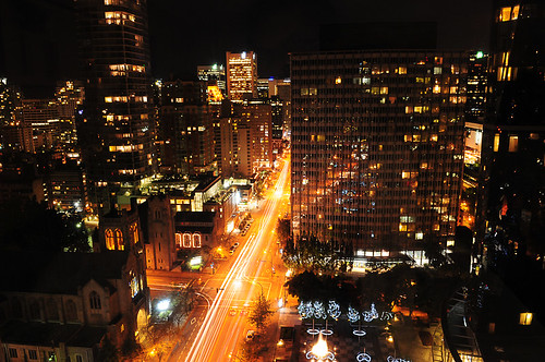 Downtown Vancouver by Night