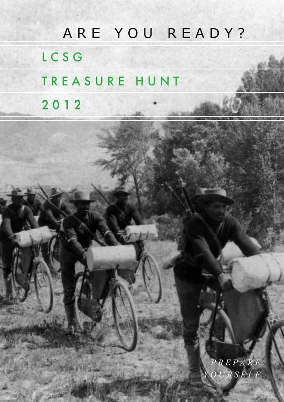 LCSG Treasure Hunt 2012 poster