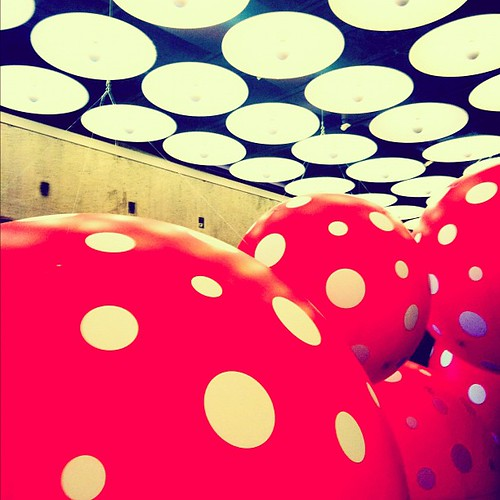 The Whitney Museum #newyork #nyc #art #red #Polkadot #abstract